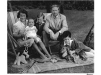 Dr. Cronin with his wife, May, and sons, Andrew, Vincent, and Patrick, at their Storrington country