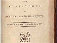 Title page from the first American edition of Rights of Woman