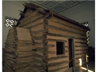 Symbolic log cabin at the Abraham Lincoln Birthplace National Historical Park