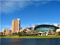Adelaide Convention Centre, situated next to the River Torrens
