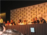 Several creators and writers of Adult Swim shows at the Comic Con 2006 [as] panel. From left to righ