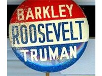 Button from Barkley's 1944 campaign for Senate