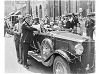 Barkley campaigning in Lexington, KY circa 1930