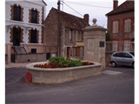 The monument to Camus built in the small town of Villeblevin, France where he died in an automobile