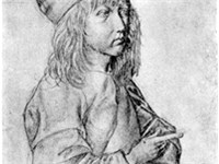Self-portrait silverpoint drawing by the thirteen-year-old D rer, 1484.