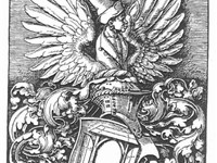 D rer's own woodcut of his coat of arms