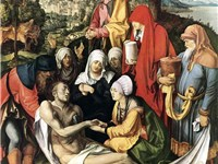 Lamentation for Christ, oil, 1500--1503