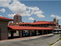 New intermodal transportation hub in downtown Albuquerque.