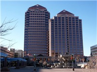 Albuquerque Plaza is the headquarters to Bank of Albuquerque, 15 law firms and the Hyatt Hotel.