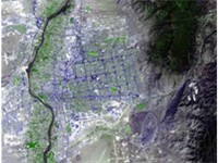 Satellite image of Albuquerque taken by NASA.