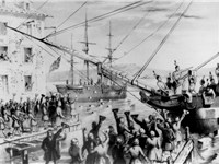This 1846 lithograph has become a classic image of the Boston Tea Party