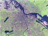 Satellite image of Amsterdam
