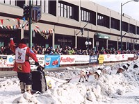 2003 Iditarod start in downtown Anchorage.
