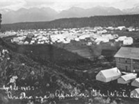 Anchorage as a tent city, 1915