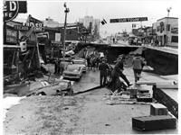 "The Good Friday or ""Great Alaska"" Earthquake on March 27, 1964. View of Fourth Avenue"