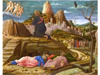 The Agony in the Garden (right panel of the predella of the San Zeno Altarpiece, 1455) National Gall
