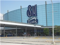 SM City, by Clark Freeport's main gate, is the largest chain of shopping malls in the country.