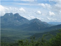 View of the mountains of Lubango