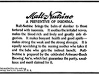 1898 magazine ad for Malt-Nutrine.