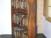 Reconstruction of the bookcase that covered the entrance to the Secret Annexe, in the Anne Frank Hou