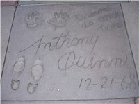 Anthony Quinn, hand & footprints outside the Grauman's Chinese Theatre.