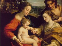 The Mystic Marriage of St. Catherine (c. 1520), Correggio's most important contribution to the High
