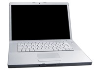 "The MacBook Pro (15.4"" widescreen) was Apple's first laptop with an Intel microprocessor. It was ann"