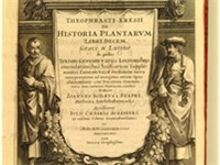 Frontispiece to a 1644 version of the expanded and illustrated edition of Historia Plantarum (ca. 12