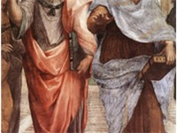 Plato (left) and Aristotle (right), a detail of The School of Athens, a fresco by Raphael. Aristotle