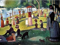 Georges-Pierre Seurat, Sunday Afternoon on the Island of La Grande Jatte 18841886