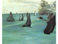 douard Manet, Seascape Calm Weather, 1864-1865