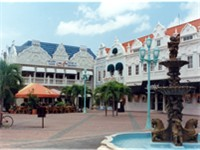 Ornate buildings in Oranjestad, Aruba.