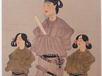 To hon Miei, Portraits of Prince Sho toku and his two sons, 8th century?