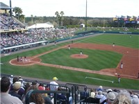 The Atlanta Braves Spring Training game against the New York Mets in 2008.
