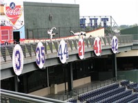 Retired numbers at Turner Field