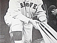 Ruth with the Boston Braves in 1935, his last year as a player