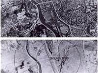 Nagasaki before and after bombing.
