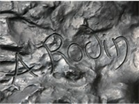 Rodin's signature on The Thinker.