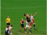 Australian rules football originated in Victoria and is a very popular sport.