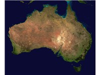 The Commonwealth of Australia seen from space