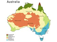 Climatic zones in Australia, based on K ppen classification