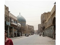 Al Rasheed Street, the dome of Hayder Khana's mosque on the left
