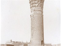 Suq al-Ghazel (The Yarn Bazaar) Minaret in Baghdad, Mesopotamia (Iraq). This is the oldest minaret i