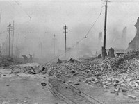 Great Baltimore Fire of 1904, looking West from Pratt and Gay Streets.