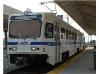 The Baltimore Light Rail provides service to Baltimore-Washington International Thurgood Marshall Ai