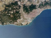 Barcelona as seen from space