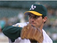 Zito pitching for the A's