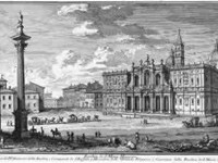 The facade in an etching by Giuseppe Vasi, circa 1740.