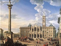 The Piazza and Church of Santa Maria Maggiore, by Giovanni Paolo Pannini