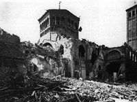 The Basilica after the bombings.